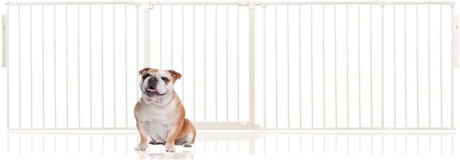 Bettacare Premium Multi Panel Flexible Pet Barrier (Upto 262cm (70cm Tall), White)