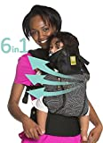 LÍLLÉbaby Complete All Seasons SIX-Position 360° Ergonomic Baby & Child Carrier, Black / 5th Ave - Lumbar Support
