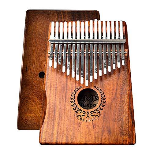 Muspor 17 Teclas Kalimba, Thumb Piano Marimba con Bolsa de Transporte e Iinstrucción de Aprendizaje, Acacia Koa Mbira de Alta Calidad Regalo de Navidad para Principiantes Niños
