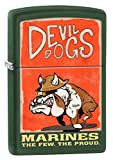 Zippo US Marines Devil Dogs Green Matte Pocket Lighter