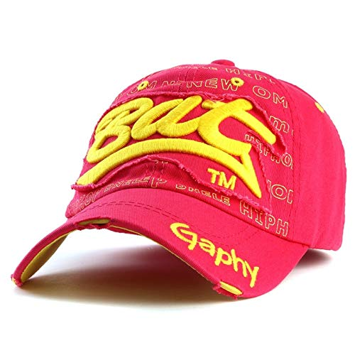 WAZHX Sombreros Gorra De Béisbol Sombreros Hip Hop Ajustados Sombreros Baratos para Hombres Mujeres Gorras Sombreros De ala Curva Gorra De Daños OneSize 1
