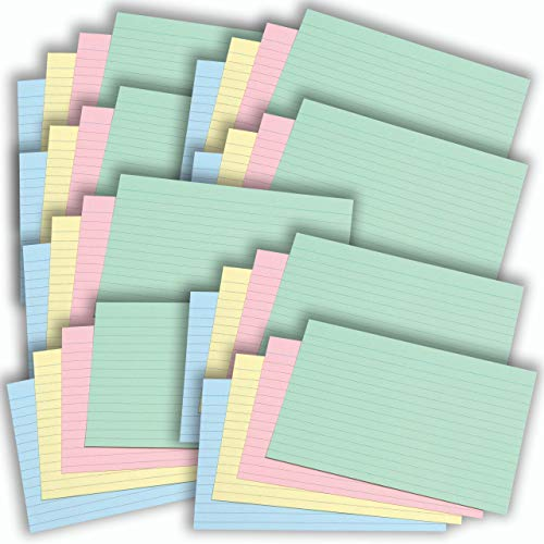 Flash Karten 4 Packs Kraftpapier Binder Ring Flash Index Blank Card Memo