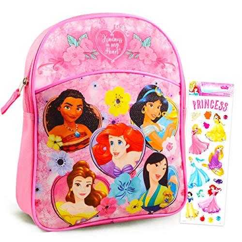 Disney Princess Mini Backpack Preschool Toddler Kindergarten ~ Deluxe 11' Princess School Bag with Stickers (Disney Princess School Supplies)