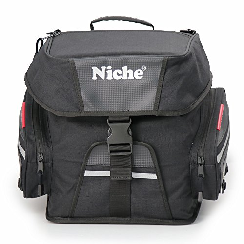 Niche Motorcycle Tail Bag Travel Luggage, Weather Resistant Touring Seat Bag for Sports Bike and Street Bike, Motorcycle Rear Bag Shoulder Bag, Universal Type NMO-2215