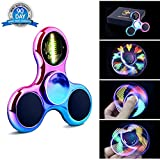 Fidget Spinner Hand Spinner LED de Quimat Jouets luminants EDC 18 Modes Flash parfait...