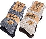 Brubaker 4 Paar Alpaka Socken Multipack 100prozent Alpaka 43-46