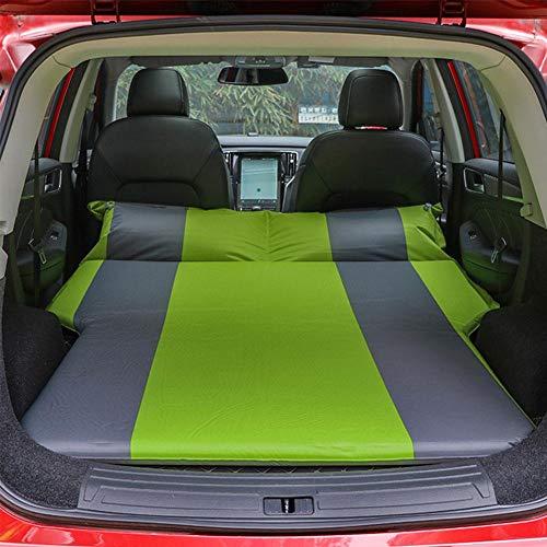Funihut Luchtmatras voor één persoon, automatisch luchtbed, voor auto, luchtbed, reizen, waterdicht, voor SUV-koffer, voor 2 tot 3 personen, 175 x 130 x 5 cm Groen