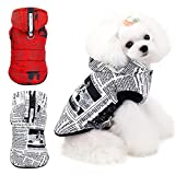 handfly Casaco filhote de cachorro Casaco de cachorro pequeno com anel D e capuz cão de estimação casaco de inverno jaqueta roupas à prova d 'água