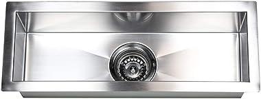 ARIEL F2308 23 Inch Zero Radius Design Undermount Stainless Steel Bar/Prep Sink