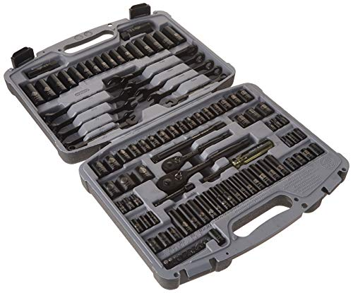 STANLEY Drive Socket Set, Black Chrome, Laser Etched, 99-Piece (92-839)