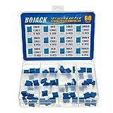 BOJACK 12 Valori 60 pezzi da 100 a 500K ohm 3296 W Kit assortimento potenziometro trimmer multigiro packag in una scatola di plastica trasparente