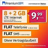 PremiumSIM Teléfono móvil LTE XL – sin Tiempo de Contrato, (Flat Internet 10 GB LTE con máx. 50 MBit/s con Datos automáticos desactivables, telefonía Flat, SMS y UE, 9,99 Euros/Mes)