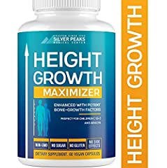 GROW TALLER AT ANY AGE - Have you ever wanted to grow taller than you already are? SILVER PEAKS has a perfect solution for you - Height Growth Maximizer! It's a natural growth stimulant full of nutrients vital for healthy bone growth & strength. Perf...