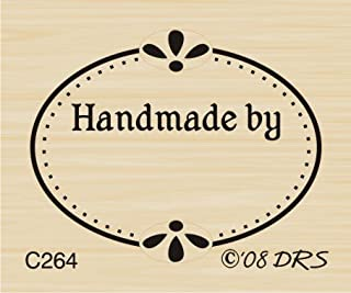 Oval Handmade Recognition Rubber Stamp by DRS Designs
