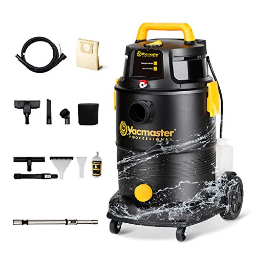 Vacmaster Wet Dry Shampoo Vacuum Cleaner 3 in 1 Portable Carpet Cleaner 8 Gallon 5.5 Peak HP Power Suction Washable HEPA Filter & Cartridge Filter for Carpet, Pet Hair, Sofa, Hard Floor, Car & Garage