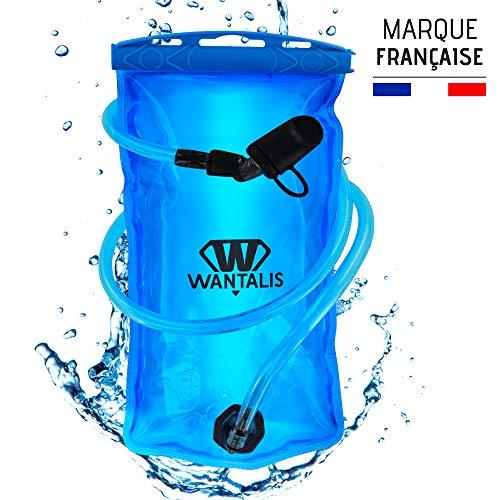 Wantalis EcoFlask Poche à eau Hydratation, Turquoise, 1.5 l