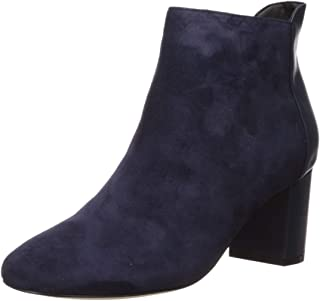 Cole Haan Women's Nella Bootie (65MM) Ankle Boot, Marine Blue Suede, 11 B US