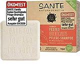Bio Shampoo Bar von SANTE Naturkosmetik, Feuchtigkeits Festes Shampoo für trockenes Haar, Mit Bio-Aloe Vera und Mango, Wie eine Haarseife, Zertifiziert & Vegan, 60 g