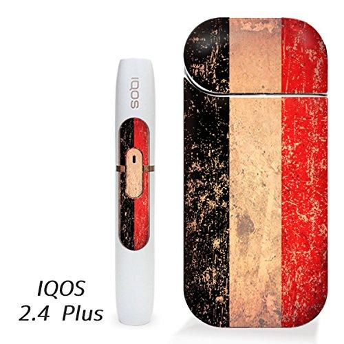 アイコス用 スキンシール ( 2.4Plus 用 ) イエメン 国旗 (アンティーク) シール ステッカー iQOS用,