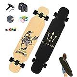 WRISCG Longboard Komplettboard Skateboard, 127×25 Longboard...