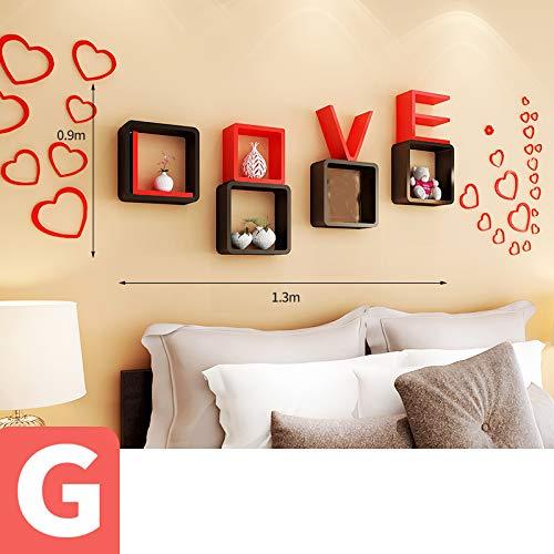 HUO Cadre de décoration murale LOVE (Couleur : G)