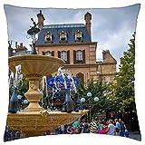 N\A Cojín Decorativo Disneyland Ratatui Paris France Building Home