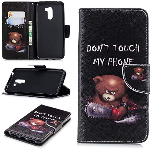 Xiaomi Pocophone F1 Flip Hülle, [Muster Gemalt] Hülle Schutzhülle Tasche Magnet Handytasche PU Leder Tasche Cover mit Karteneinschub & Ständer Bumper für Xiaomi Pocophone F1 / Poco F1 (Kleiner Bär)