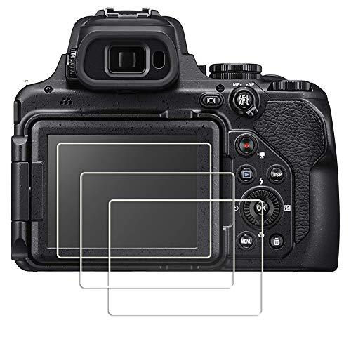 PCTC Tempered Glass Screen Protectors Compatible for Nikon COOLPIX P1000 Digital Camera(3 Packs)