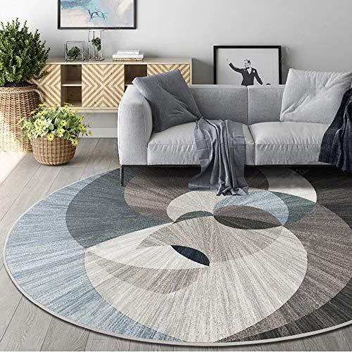 COZY Tapis de lit de Mode créatif Gris Tapis de Sol en Spirale Moderne Rond Tapis antidérapant Salon Berceau Pad (Size : 180cm/70.86in)