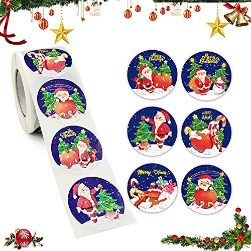 Etiquetas Adhesivas Navidad Regalo Marca OUOQI
