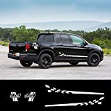 White Decal Sticker Side Stripes Graphics L Racing 4x4 Off Road for Honda Ridgeline