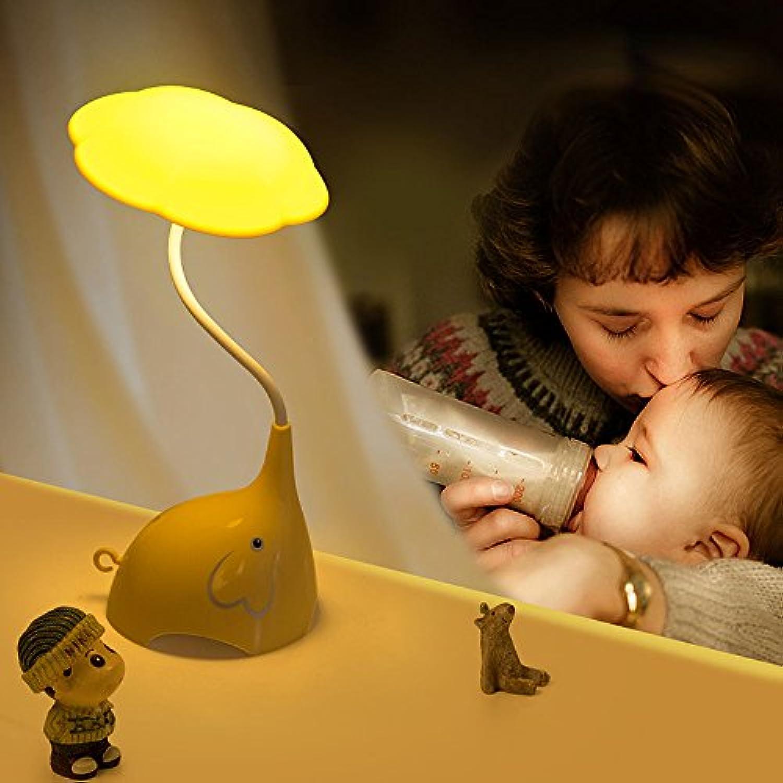 Tischlampe Schlafzimmer Wohnzimmer Tischlampe USB Schreibtischlampe Lesen Hotel Tischleuchte 177  140  310Mm 0.8W Gelb LED Tischleuchte