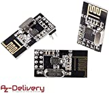 AZDelivery 3X NRF24L01 de 2.4GHz Módulo Wireless para Arduino, ESP8266, Raspberry Pi, etc.