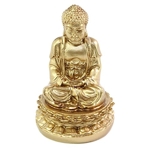 We pay your sales tax Feng Shui 2' Gold Meditating Buddha Figurines Peace Luck Prosperity Statues Paperweights Gift Home Decor Housewarming Gift