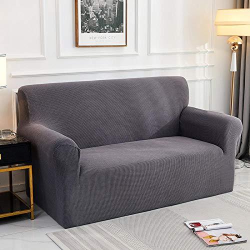 Fundas de Sofá Elasticas 3 plazas 1 Uds Funda de cojín de sofá de Color sólido Funda de poliéster, Asiento Protector de Muebles de Sala de Estar