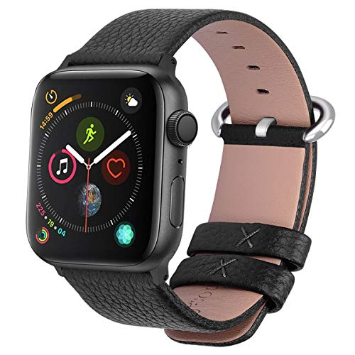 Fullmosa Compatible Apple Watch Band 42mm 44mm 40mm 38mm Calf Leather Compatible iWatch Band/Strap...