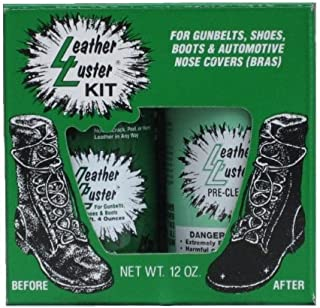 Kit Hi Gloss Patent Leather BLACK Finish for Gunbelts Shoes & Boots 12 oz
