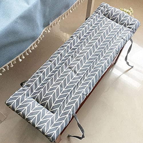 Waigg Kii Coussin de banc 2 ou 3 places en coton pour intérieur ou extérieur, coussin rectangulaire 100/120 cm pour terrasse, salle à manger, balançoire (100 x 30 cm, gris)