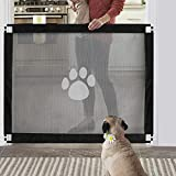 Namsan Dog Gate Magic Gate for Dogs Lockable Safety Guard Easy to Install Safety 80 X 100cm Fence for Stair,Indoor