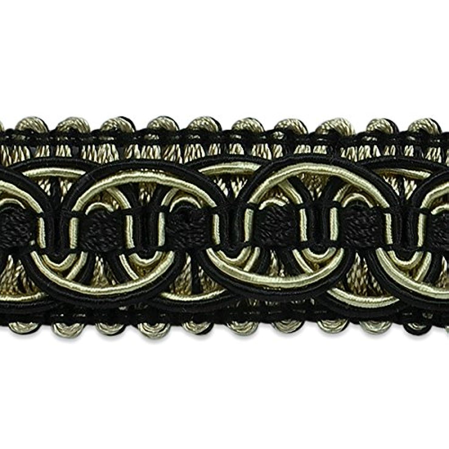 Expo International Preshea Circle Braid Trim Embellishment, 20-Yard, Black