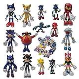 Traje de Sonic Super Hedgehog Sonic juguete Douyin hecho a mano posando Sonic Boy móvil muñeca coche...