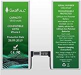 GadFull Batería de reemplazo para iPhone 6 | 2019 Fecha de producción | Incluye Kit de Herramientas Profesional de reparación Manual | Funciona con Todos los APN Originales