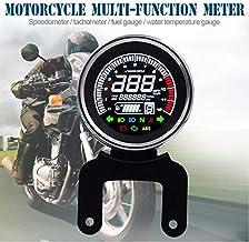bianca 1pc Segnale di retroilluminazione a LED universale Contachilometri moto Contachilometri K//MH Yctze Tachimetro per moto