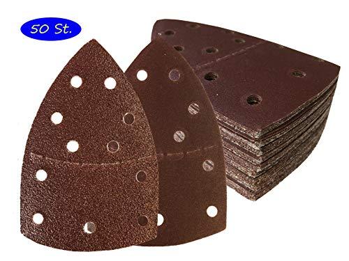50hojas de lija con velcro 105x 152mm, grano 80para lijadora Prio