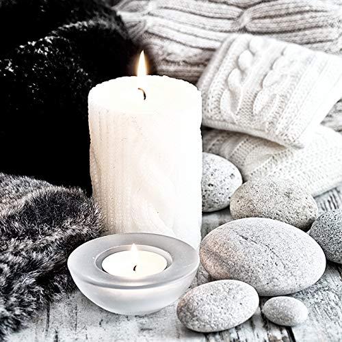 20 servetten kaarsen en stenen/winter/Kerstmis 33x33cm