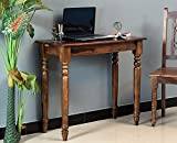Furniselan Solid Wood Multipurpose | Table for Students | Office Desk | Reading Table | Writing Table | Study Console Table |Wooden Laptop Table| Solid Wood Table for Computer | Sheesham Wood Office Desk | Work from Home Table | Students Office Desk Computer Table | Study from Home Table | (Teak Finish)