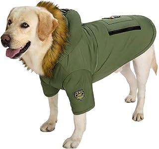 狗綿加绒二脚棉衣宠物秋冬装比熊秋田金毛拉布拉多萨摩耶中大犬 (Size : 30#(15~22.5KG))