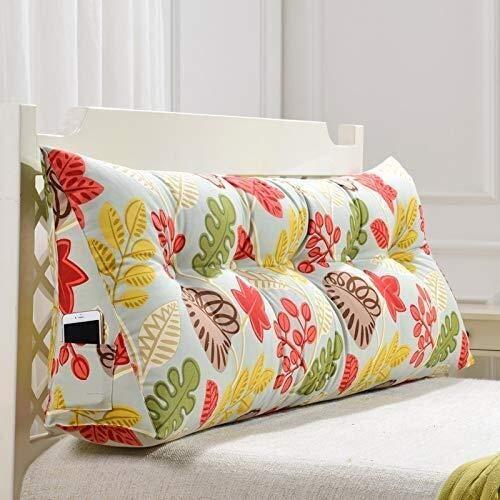Kopfbrett Bett-Rückenpolster Dreieck Unterstützung Bedside Kissen Soft Bag Leserückenlehne Kopfkissen-Keil-Kissen for das Lesen, Removable, 12 Farben, 5 Größen (Farbe: 4 #, Größe: 200 × 22,5 × 50 cm),