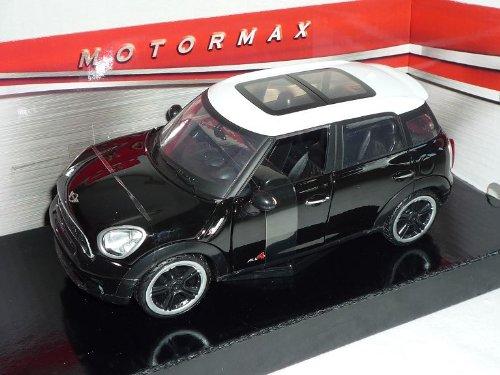 Motormax Mini Cooper S Countryman SUV Schwarz Weiss Dach Ab 2010 1/24 Modell Auto mit individiuellem Wunschkennzeichen