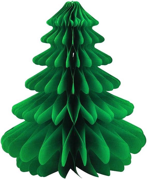 KAHEIGN 12Pcs Weihnachtsdekoration Papier Pompoms Wabenb/älle 3 Farben Seidenpapier Pompons Papierwaben f/ür Weihnachten Deko